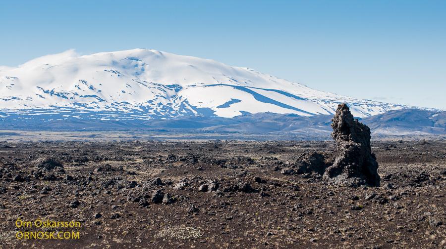 Mount Hekla at noon, 25 June.