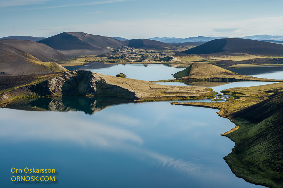 Veiðivötn, view to some of the lakes, Fossvötn