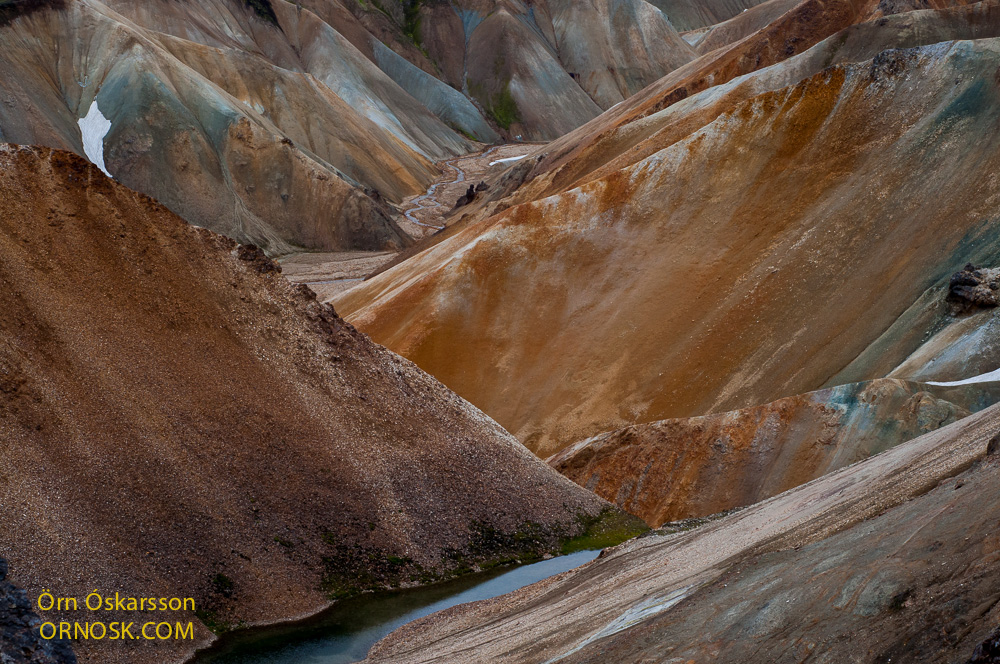 Colourful rhyolite landscape